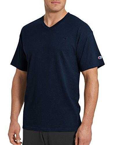 Champion Men's Classic Jersey V-Neck T-Shirt, Navy, S
