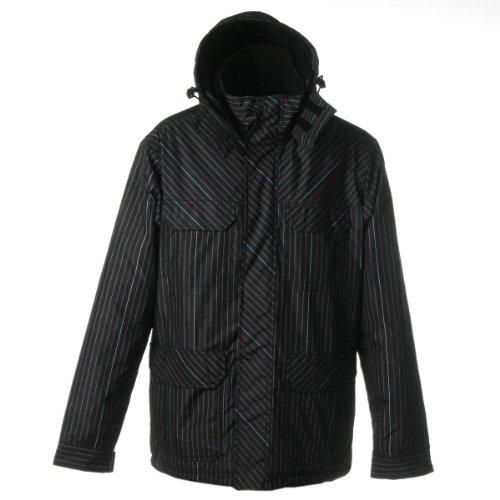 Quiksilver Herren Outdoor Jacke Fulfillin Printed, 052 Fullfillin black