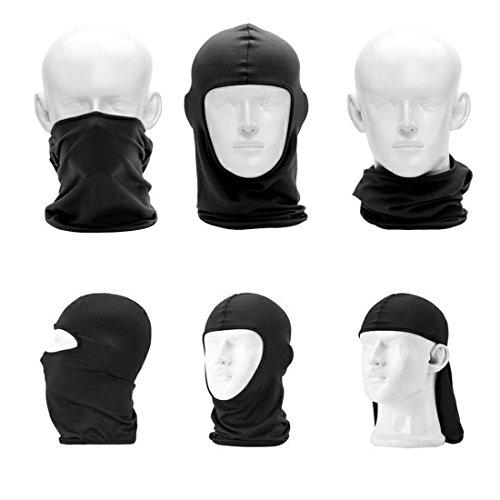 QHIU Tactique Masque Cagoules Ninja Capuche Camouflage Visage Protection Sport en Plein Air Extérieur Armée Cyclisme… 4