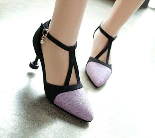 À Femmes Talon bonne Mode qualité Mid MNII purple Femmes Chaussures Talons afIaqF