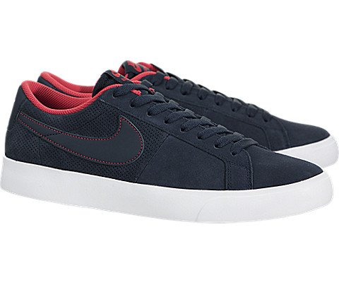 Nike SB Blazer Vapor mens skateboarding-shoes 878365-441_10 - Obsidian/Obsidian-White-Track Red