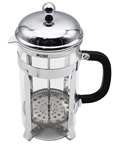 HEY~LIFE French Coffee Press - Stainless Steel Coffee Maker 34oz, 1L With 1 Spoon and 2 Filter by Hey~life (Image #3)