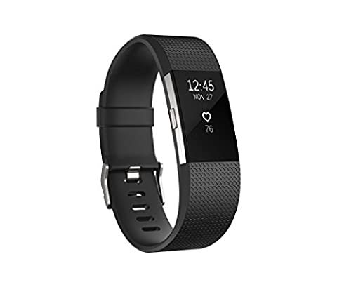 Fitbit Charge 2 Heart Rate + Fitness Wristband, Black, Large (US Version) (Electronics)