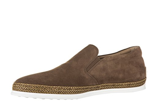 Tod's slip on homme en daim sneakers marron