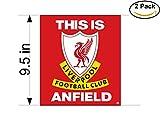 Liverpool FC(121) United Kingdom Soccer Football Club FC 2 Stickers Car Bumper Window Sticker Decal Huge 9.5 inches