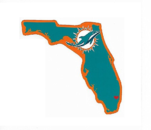(Rico Industries NFL Miami Dolphins Home State Sticker)