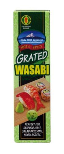 Kinjirushi Wasabi in der Tube, Japan. Meerrettich, grün, 5er Pack (5 x 43 g Packung)