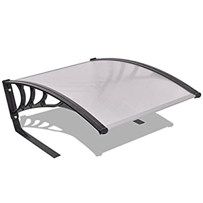 "vidaXL 30""x41""x18"" Garage Roof for Robot Lawn Mower Twinwall Metal Black Silver"