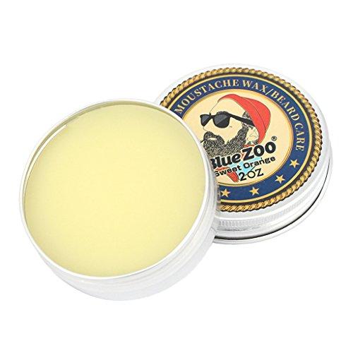 Jili Online Men Beard Balm Leave-In Taming Styling Conditioner Moustache Wax Orange ()