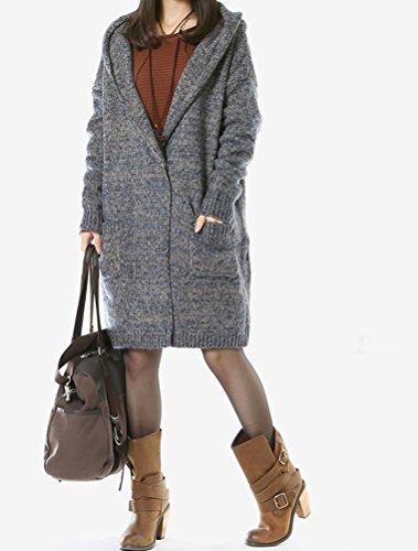 Capuche Femme Buton Pulls Manteau Bleu Style1 MatchLife aqz1z