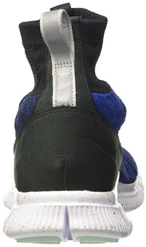 Nike Herren Free Flyknit Mercurial Fc Fußballschuhe Schwarz (Black/racer Blue/metallic Grey/white)