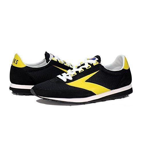 Brooks Vantage Chaussures De Course Pour Hommes Br110165 025 (noir / Jaune Vif, 9 D (m))