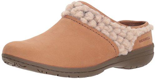 (Merrell Women's Encore Kassie Slide Wool Clog, Natural tan, 7 M US)