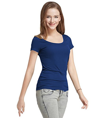 Women's Navy Blue Short-Sleeve T-Shirt