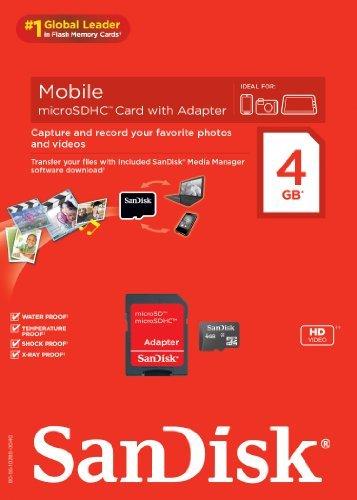 SanDisk Mobile microSDHC Card with Adapter