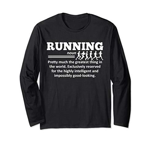 (Running Funny Definition Marathon Runner Quote Gift Long Sleeve T-Shirt)