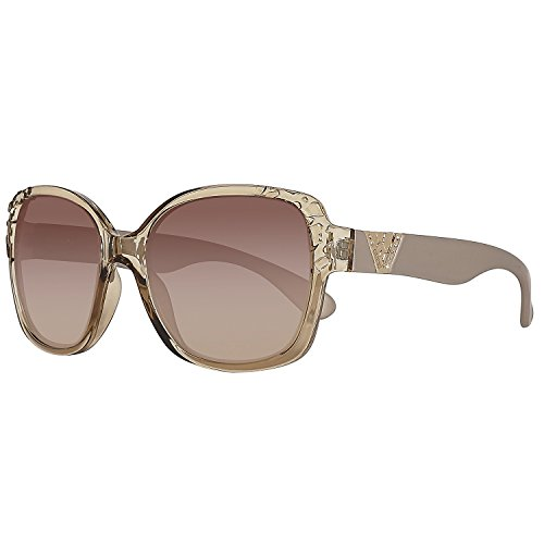 GUESS Unisex GF0298 Crystal Beige/Brown Gradient Lens - Prescription Guess Sunglasses