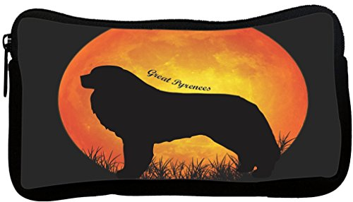 Rikki Knight Great Pyrenees Dog Silhouette by Moon Neoprene Pencil Case (dky-Neo-pc41369) -
