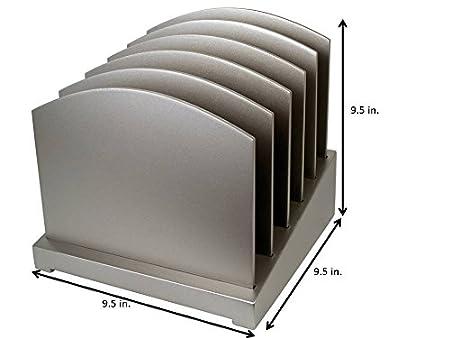 Wood Desk Organizer Silver File Organizer