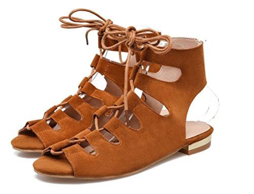 Señoras 356cm 3 Compras 003cm Tubo 1 34 de Tres Colores cm 0 Corto NVLXIE Strap Roman 43 Summer Sandalias Dew Parte Toe Sandals Las qg6fwt