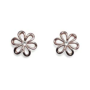 Oliver Weber Women's Rose Gold Plated Theater Stud Earrings, Gold - 22422