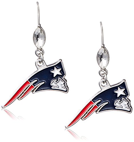 (Siskiyou NFL New England Patriots Crystal Dangle Earrings)