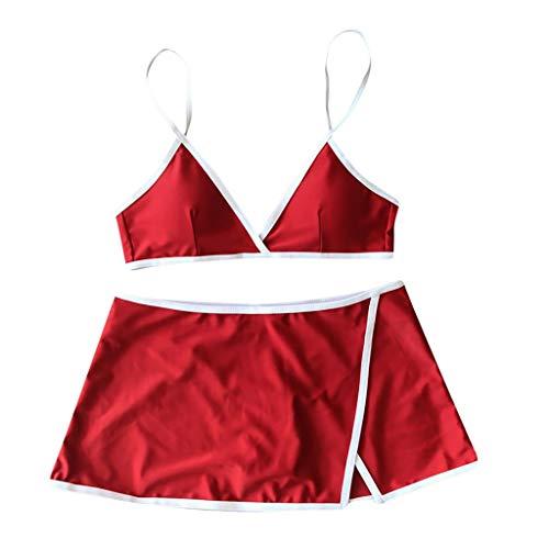 Womens Tie Knot Front High Waist Thong Bandage 2PCS Bikini Sets Beachwear ()
