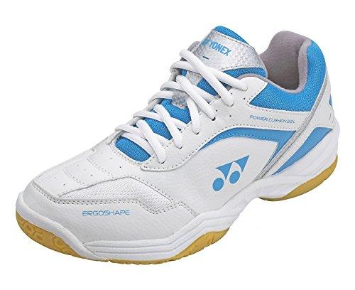 YONEX SHB-33LX Ladies Badminton Shoes, White/Blue, US9