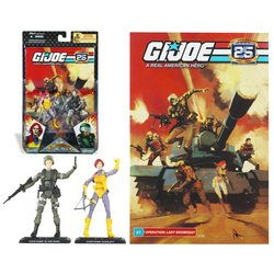 G.I. Joe 25th Anniversary Comic Pack - Scarlett & G.I. Joe Hawk (Gi Joe Scarlett)