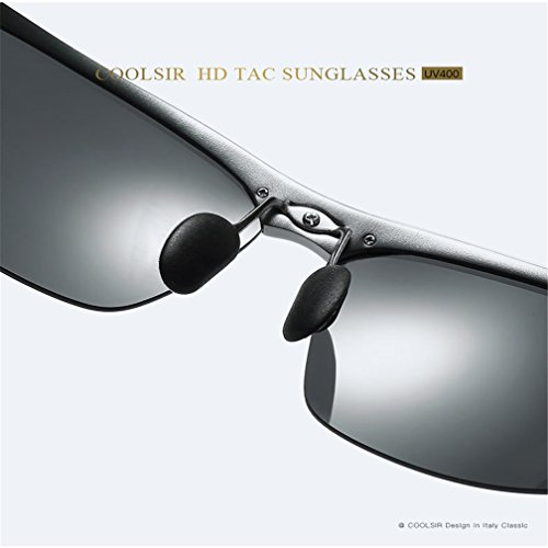 De De Gafas Deportivas Sol Aluminio Gray Gray Magnesio LUHUIYUAN De Hombres para De Conducción Polarizadas 1UnqF5x