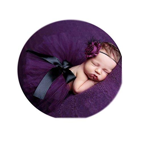 Newborn Baby Girls Photo Props DIY Photography Tutu Skirt Headband Outfits for -