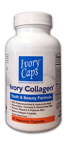 Ivory Collagen – Youth and Beauty Formula, Marine Collagen with Phytoceramides, Hyaluronic Acid and Biotin