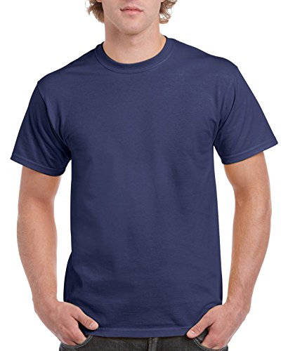 Gildan Men's Ultra Cotton Tee, Metro Blue, Small