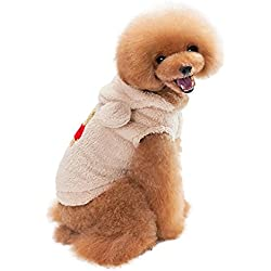 Weiyun Pet Puppy Dog Cat Clothes Hoodie Coat Jumpsuit Costume Apparel