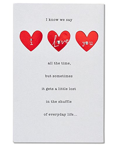 American Greetings I Love You Anniversary Card with Rhinestones
