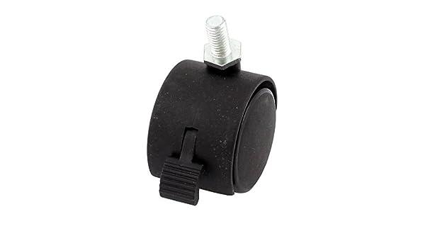 eDealMax Oficina 8mm rosca del vástago conector gemelo de Freno de rueda de las ruedas giratorias, Negro: Amazon.com: Industrial & Scientific