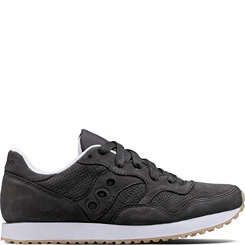 Saucony Originals Women's Dxn Trainer CL Nubuck Sneaker, Black, 7.5 Medium US