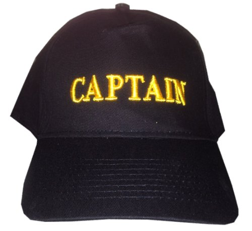 BigBoyMusic CAPTAIN - Black Baseball Cap/Hat One Size Fits Most