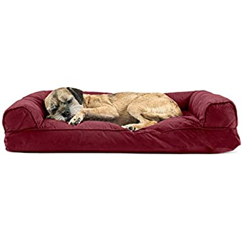 Amazon.com : FurHaven Pet Dog Bed | Quilted Pillow Sofa
