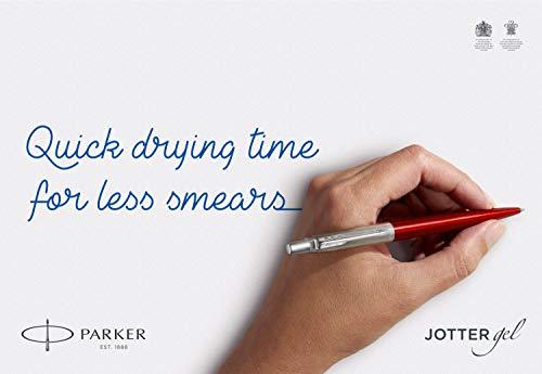 Parker Jotter Gel Pen, Waterloo Blue and Chrome, Medium Point, Black Ink