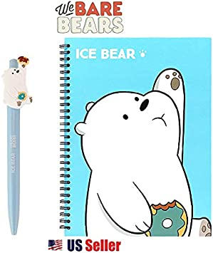 Panpan We Bare Bears Hard Cover Spiral Notebook Note Pad 1pc