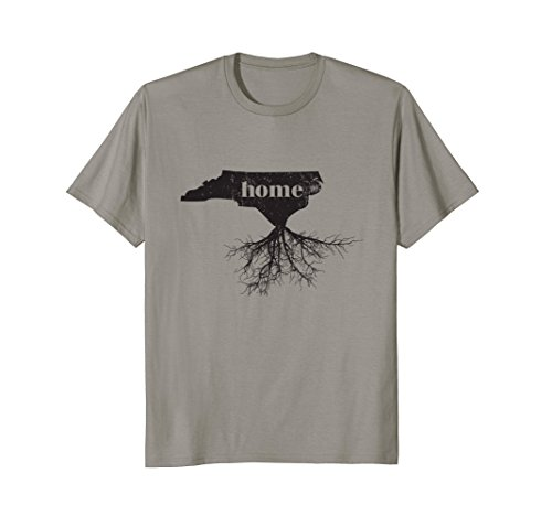 North Carolina Graphic Tee - Mens North Carolina Home Roots State Map Shirt Love Pride Gift T Medium Slate