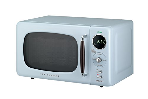 Daewoo KOR07R3ZEL 0.7 cu. ft 700W Retro Countertop Microwave Oven, City Blue by Daewoo (Image #2)