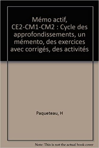 Télécharger les livres gratuitement Approfondissements, CE1, CE2, CM1 PDF