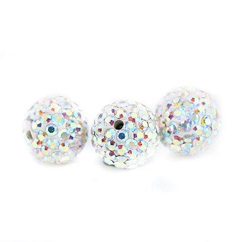 10 PSC 10mm Crystal AB Swarovski Crystal Loose Spacer Bead Pave Disco Ball Swarovski Crystal Disco Ball Bead