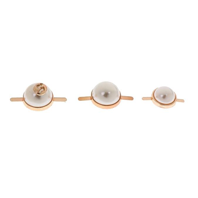 Magideal 5pcs Vintage Perline Beads Clip Scarpe Accessori Per Tacco Alto Scarpe Da Sposa Borsa In Pelle Decorazione Artigianale DIY - #1, 20mm