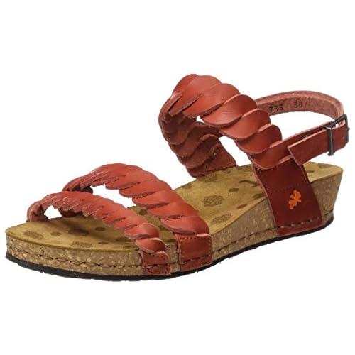 chollos oferta descuentos barato Art 0733 Mojave Pompei Sandalias con Plataforma para Mujer Rojo Granada 37 EU