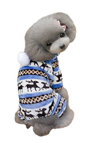 [Pets Clothing Dogs Dress Hoddies Cats Apparel Costumes Size S Designer Soft Winter Warm Pet dog clothes pet clothing Deer cotton puppy dogs coat winter jacket for small dogs By] (Incredibles Costumes Designer)