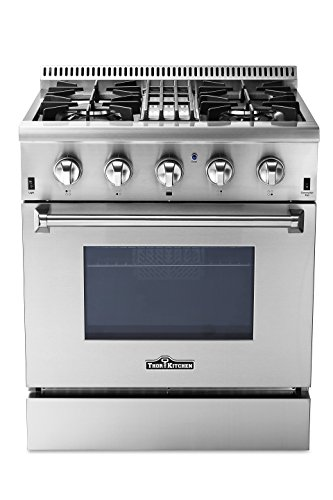 "Price comparison product image Thorkitchen HRD3088U 30"" Freestanding Professional Style Dual Fuel Range with 4.2 cu. ft. Oven,  4 Burners,  Convection Fan,  Stainless Steel"