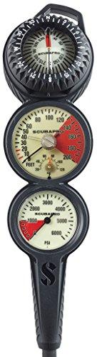 ScubaPro 3 Gauge Analog Depth Pressure Compass Triple Gauge - ()